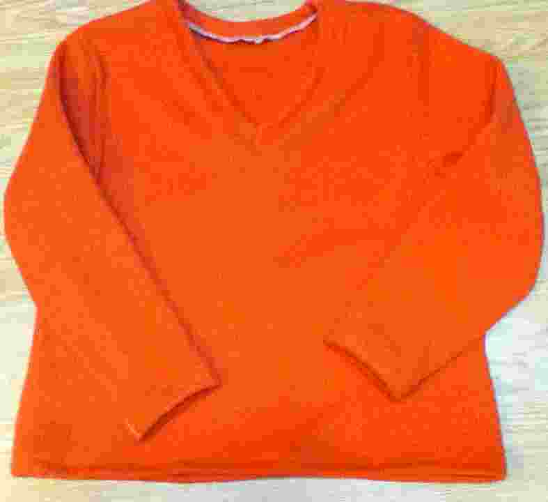 orange fleece pj top too big.jpg