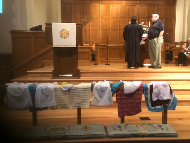 August 2019 Blessing of Preemie Gowns with Prayer Shawls.jpeg